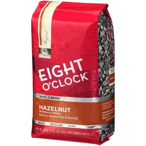 Eight O-Clock Whole Bean Coffee With Hazelnut