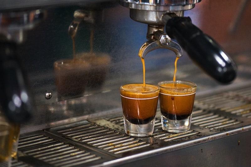 Pulling espresso shots