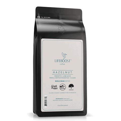 Lifeboost Hazelnut coffee
