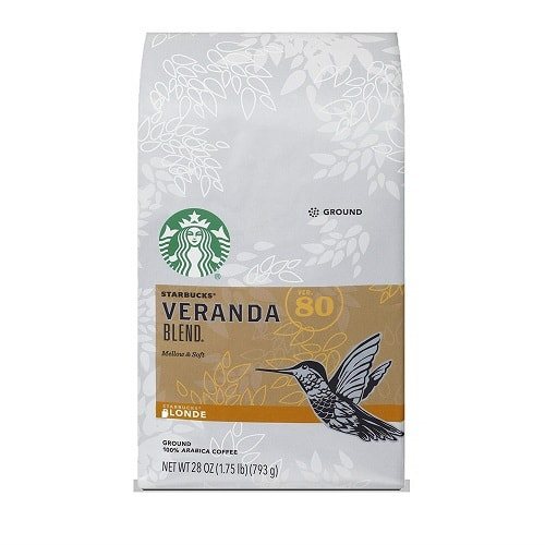 Starbucks Veranda Blend Light Blonde Roast Ground Coffee