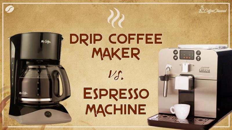 drip coffee vs espresso