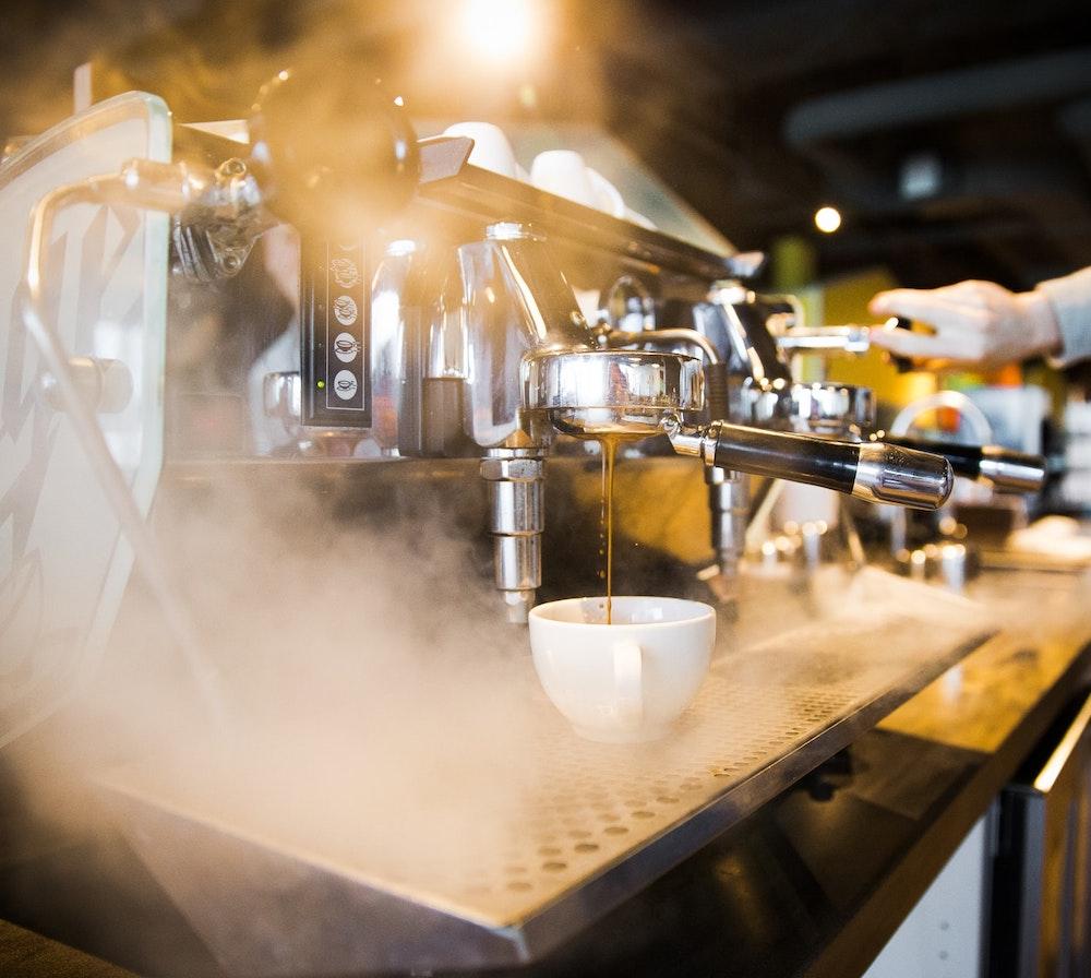 espresso machine steamy square
