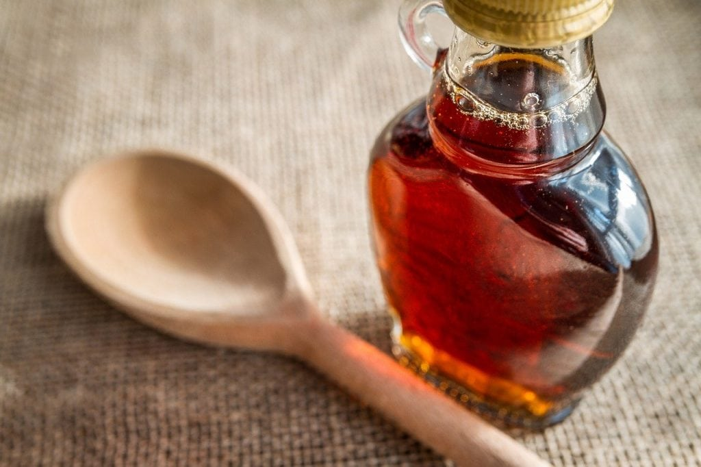 Maple syrup coffee sweetener