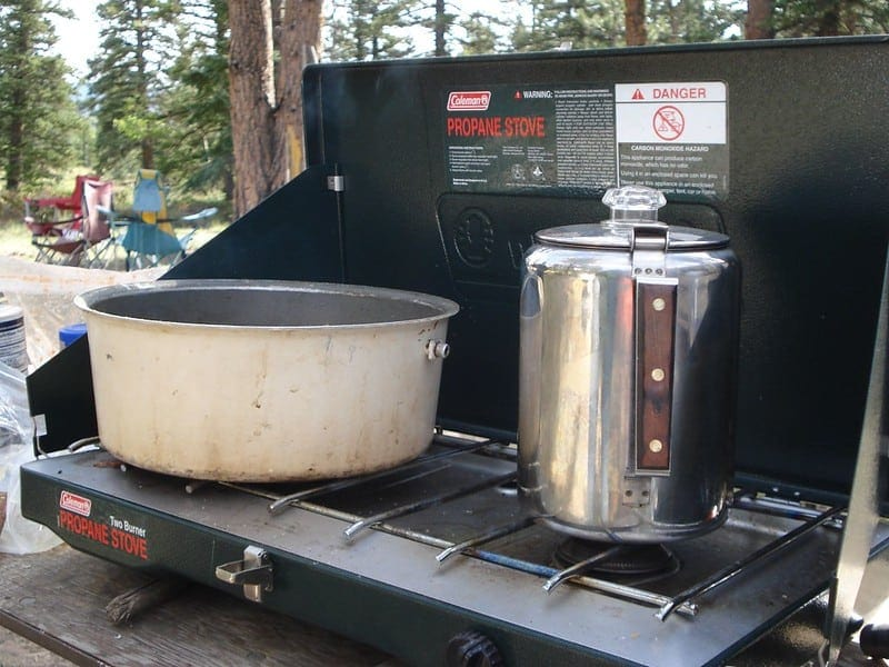 percolator coffee on camp stove
