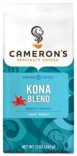 Cameron's Coffee Roasted Ground Coffee Bag, Kona Blend, 12 Ounce