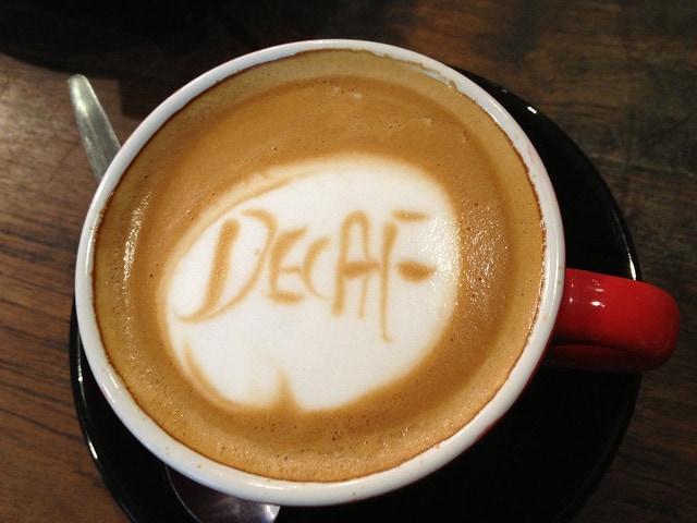Decaf cafe art