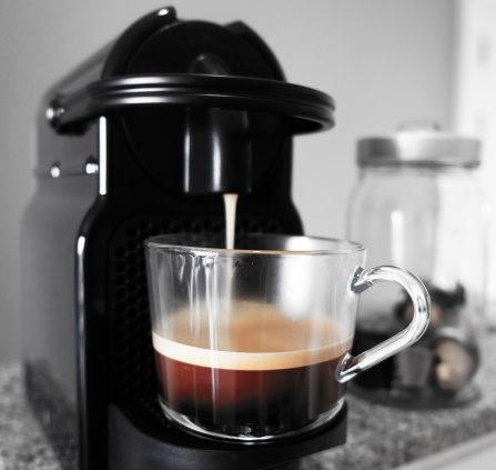 A Nespresso machine in the kitchen