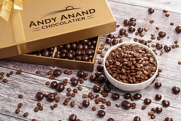 Andy Anand's California Dark Chocolate Covered Espresso Coffee Beans