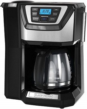 BLACK+DECKER CM5000B 12-Cup Mill and Brew Coffeemaker