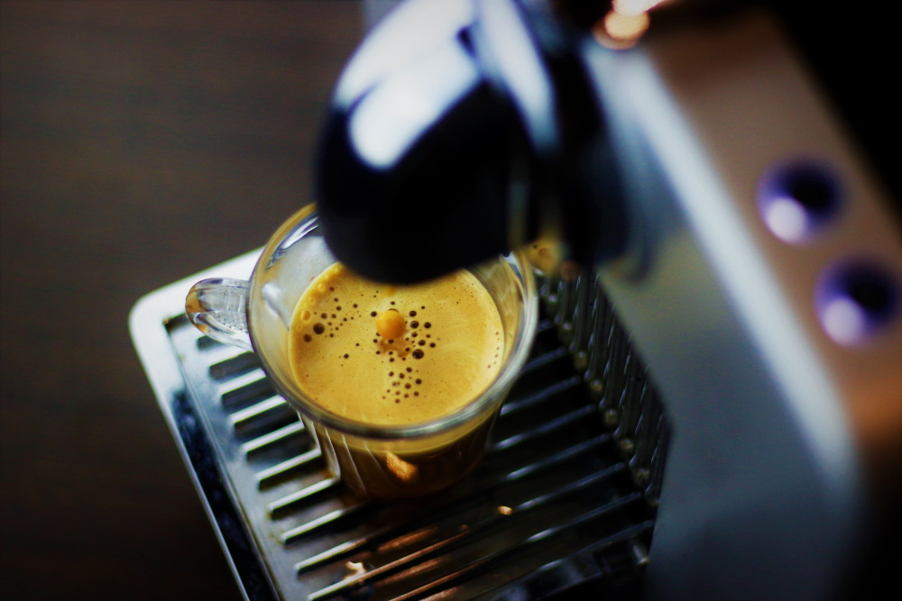 Brewing Nespresso coffee