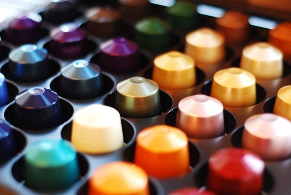 Capsules for a Nespresso machine