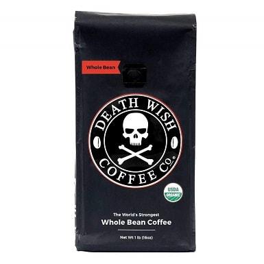 Death Wish Organic USDA Certified Whole Bean Coffee