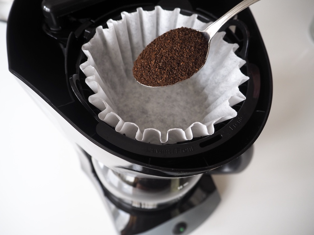Espresso grounds in drip coffee maker