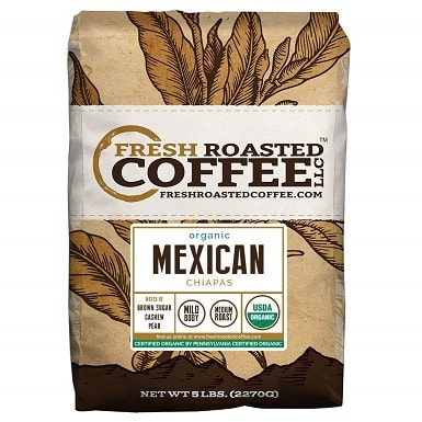 Fresh Roasted Coffee LLC, Organic Mexican Chiapas Coffee