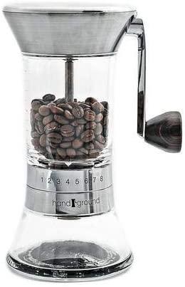 Handground manual coffee burr grinder