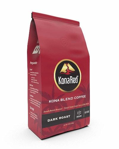 KonaRed Premium Hawaiian Kona Blend Coffee - Ground - Dark Roast