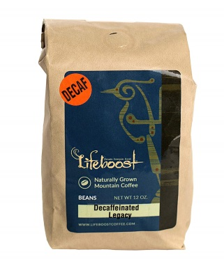 LifeBoost Organic Decaf Coffee Beans