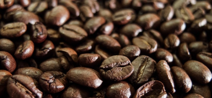 Old coffee beans