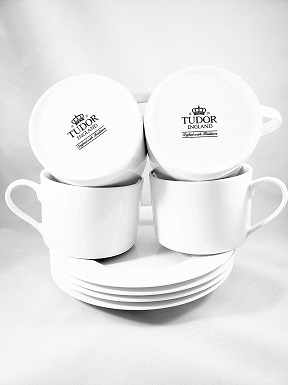 Royal Tudor Cappuccino Coffee Cups and Saucers (set of 4)