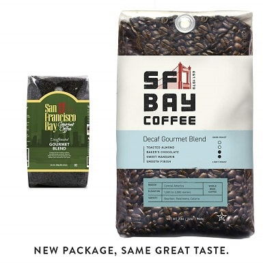 San Francisco Bay Coffee, DECAF Gourmet Blend