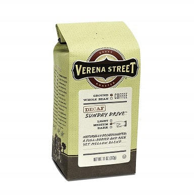 Verena Street 11 Ounce Ground, Swiss Water Process Decaf Coffee