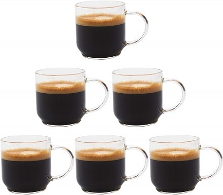 Zenco 4 oz (125ml) Espresso Coffee Glass Cups