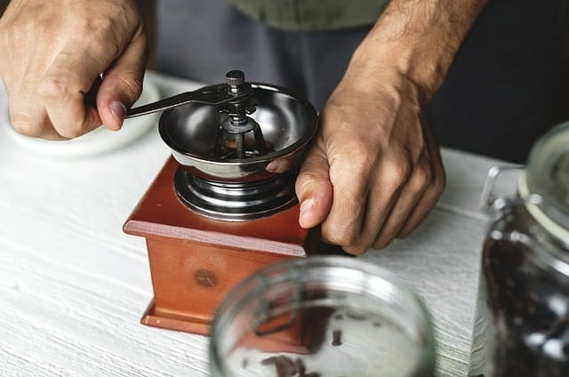 manual coffee grinding