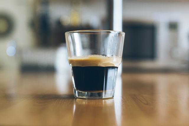 espresso in a glass