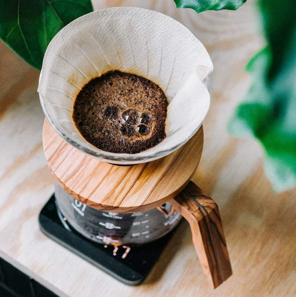 pour over coffee beans