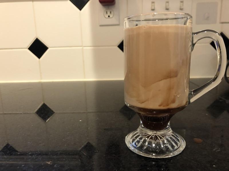 A mocha latte