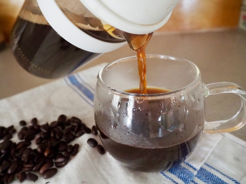 Brewing French press Coffee