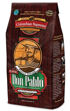 Cafe Don Pablo Gourmet Coffee Colombian Supremo