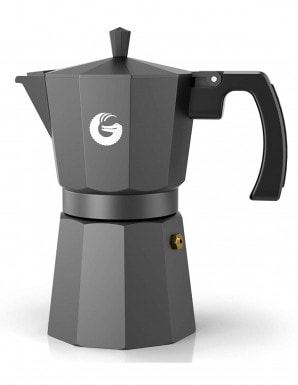 Coffee Gator Espresso Moka Pot - Rapid Stovetop Coffee Brewer