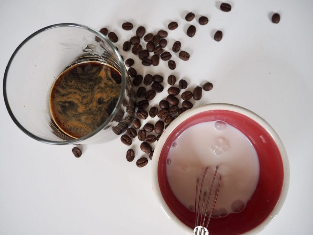 Combine milk and espresso