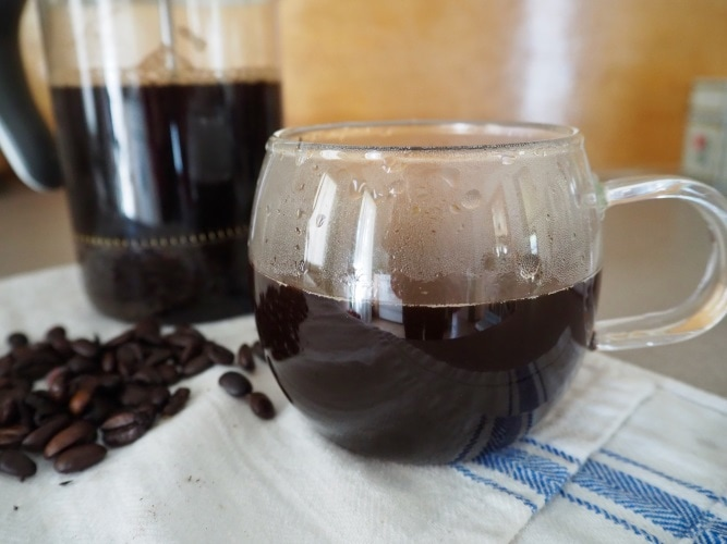 Delicious french press coffee