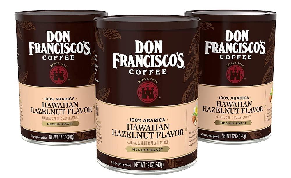 Don Franciscos Hawaiian Hazelnut coffee