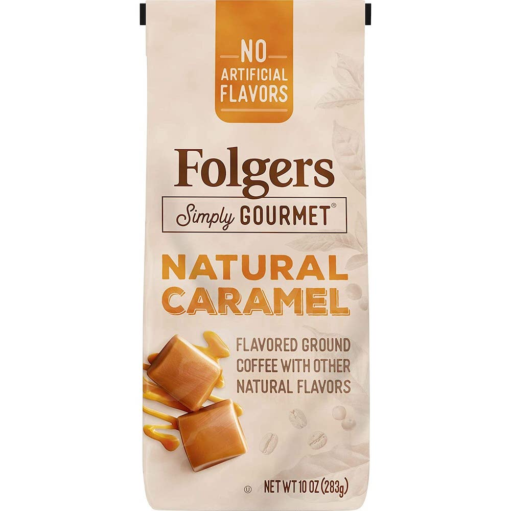 Folgers caramel flavored coffee