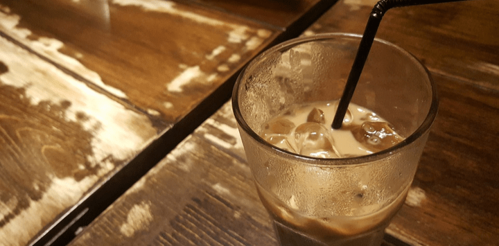 Iced Latte Half Full