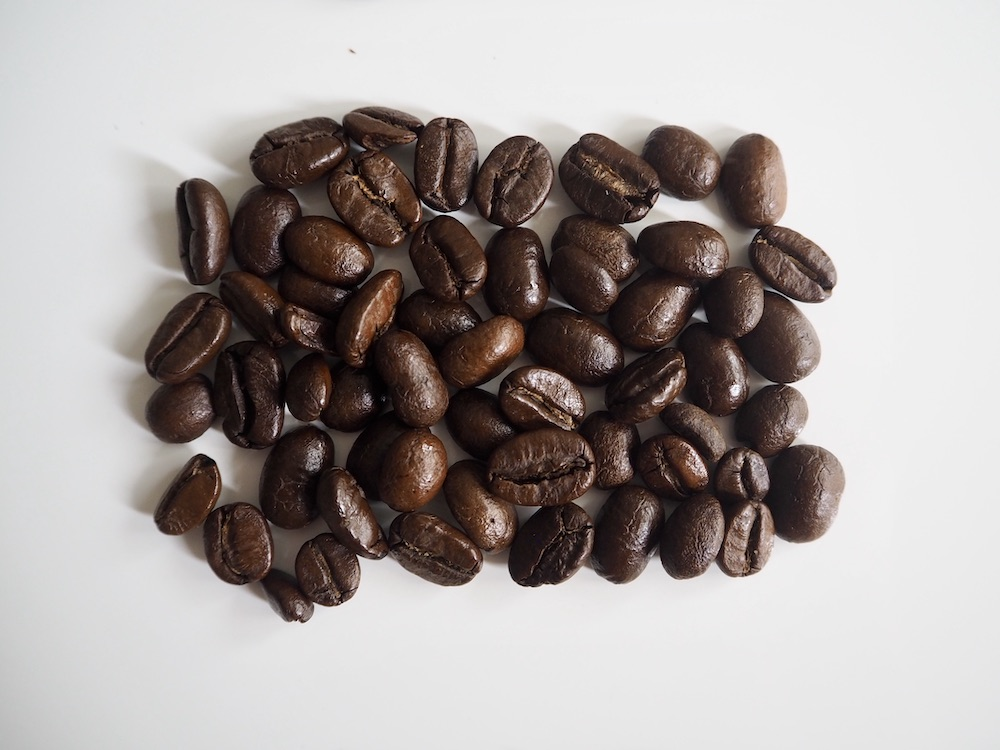 Medium-dark roast coffee beans