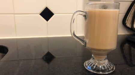 Milk in Chai Tea