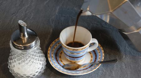 Pouring Coffee Percolator