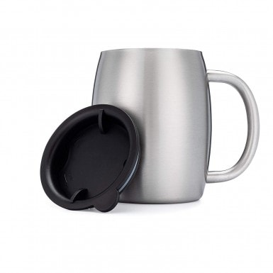 Avato Stainless Steel Coffee Mugs with Lids