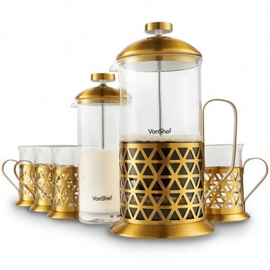 VonShef French Press Coffee Cafetiere Set