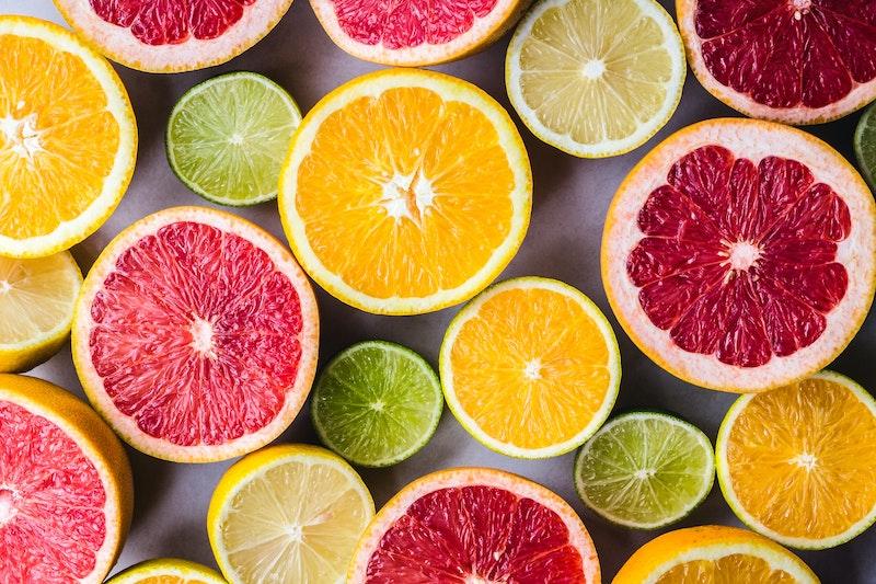 citrus fruit in coffee