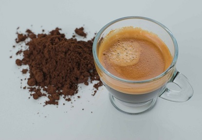 espresso with powder