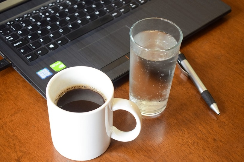 water with your coffee