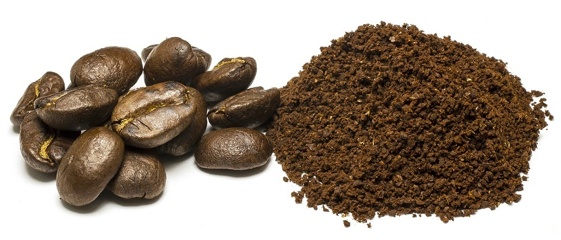 powdered coffee beans
