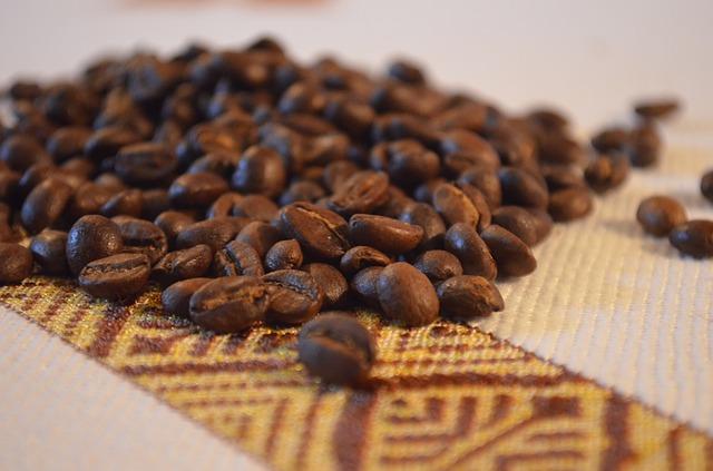 ethiopian coffee beans on a mat