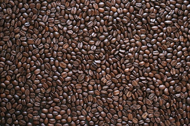 coffee beans layout