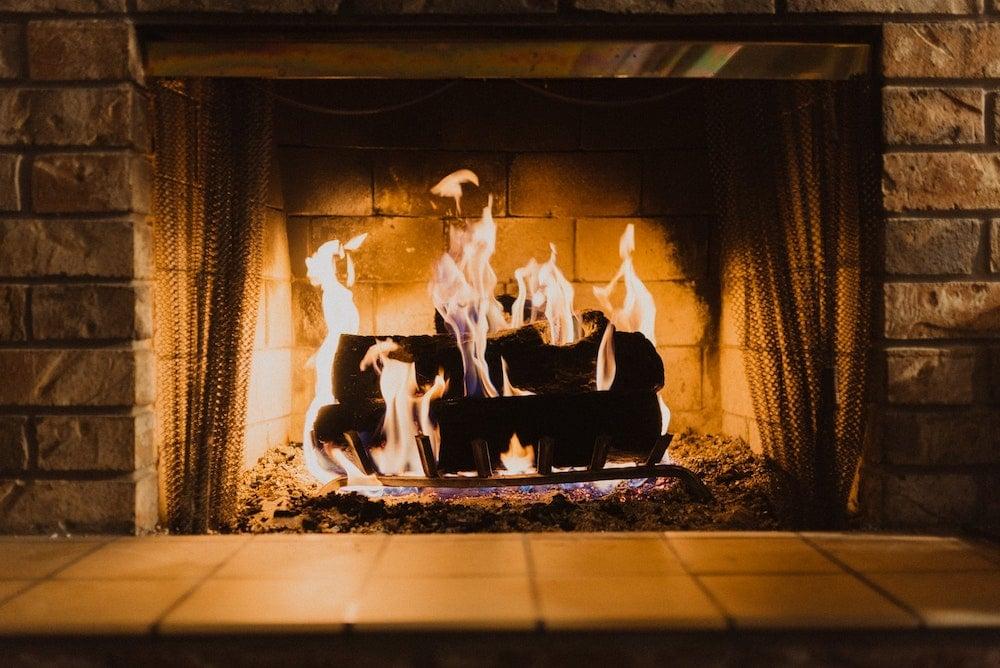 fireplace coffee ground use